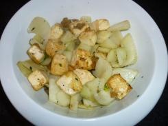Tofu and Fennel Sautéed