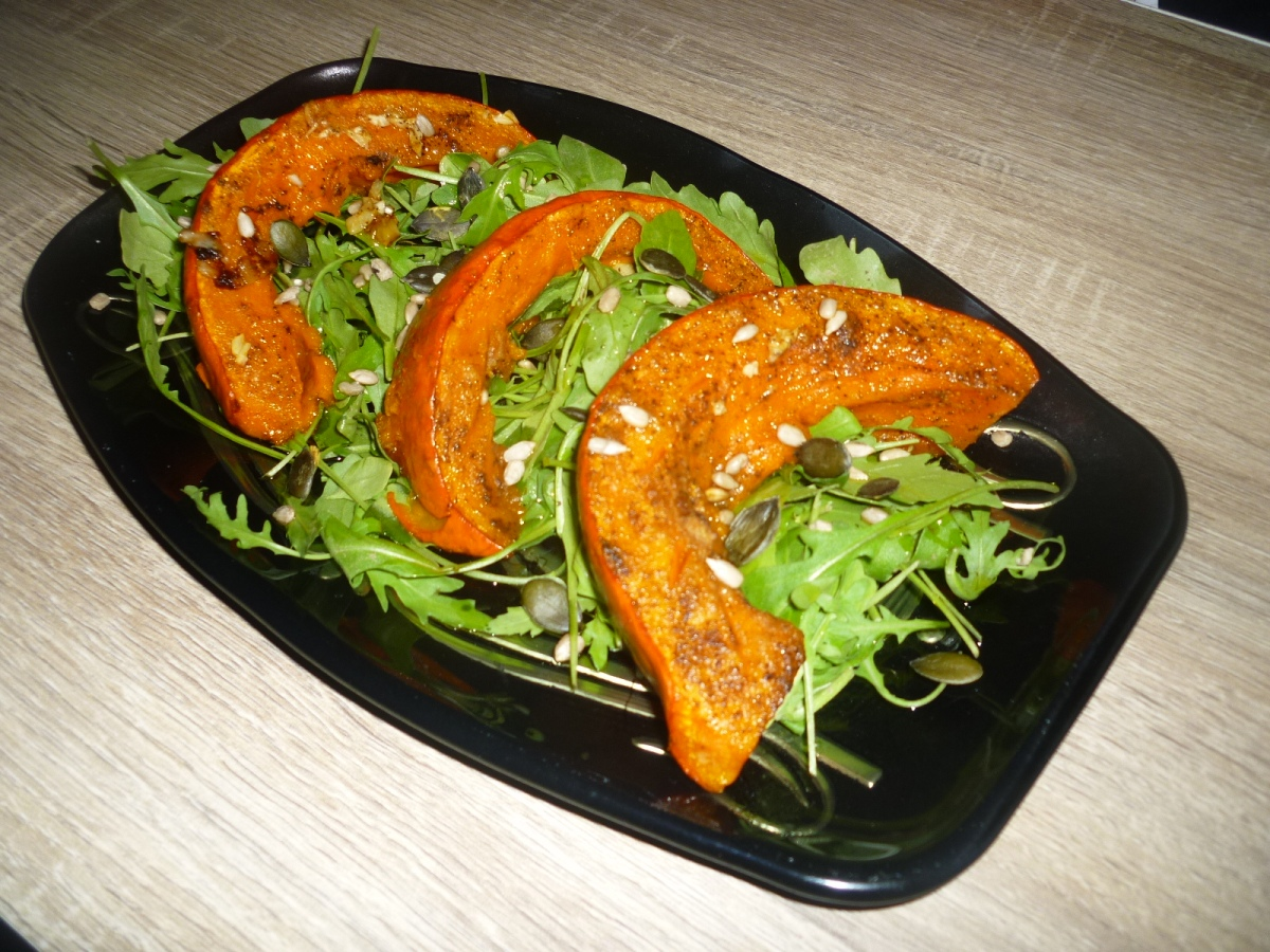 Roasted Pumpkin over Roquette